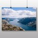 Big Box Art 'Idyllic Lake and Mountain Landscape No.2' Photographic Print