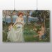 Big Box Art 'The Field of Spring' by John William Waterhouse Art Print