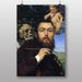 Big Box Art Hans Thoma Self Portrait with Love and Death by Hans Thoma Art Print