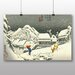 "Big Box Art ""Japanese Oriental Kanbara"" by Hiroshige Art Print"
