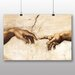 Big Box Art 'Cration of Adam Hands' by Michelangelo Art Print