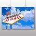 Big Box Art Las Vegas Sign No.1 Graphic Art Wrapped on Canvas