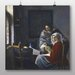 Big Box Art 'Girl Interrupted at her Music' by Johannes Vermeer Art Print