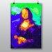 Big Box Art Mona Lisa Abstract Art Print Wrapped on Canvas