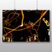 Big Box Art 'Orange Light Blur Abstract' Photographic Print