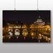Big Box Art Saint Peters Basilica Sant Angelo Bridge Italy Rome No.1 Photographic Print Wrapped on Canvas