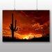 Big Box Art SaguaroSunset Photographic Print on Canvas