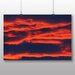 Big Box Art Red Clouds Sunset Graphic Art Wrapped on Canvas
