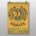 Big Box Art Lincoln Douglas Vintage Advertisement