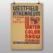 Big Box Art Water Colour Show Vintage Advertisement
