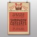 Big Box Art Symphony Concerts No.2 Vintage Advertisement