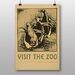 Big Box Art Visit The Zoo No.1 Vintage Advertisement