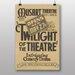 Big Box Art Twilight of The Theatre Vintage Advertisement