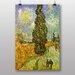 Big Box Art Cypress Road by Vincent Van Gogh Art Print