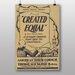 Big Box Art Created Equal Vintage Advertisement