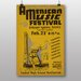 Big Box Art American Music Festival Vintage Advertisement