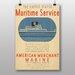 Big Box Art Maritime Service No.2 Vintage Advertisement