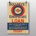 Big Box Art Bullseye for Binoculars Vintage Advertisement