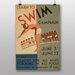 Big Box Art Learn to Swim Vintage Advertisement