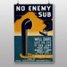 Big Box Art No Enemy Sub Vintage Advertisement