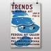 Big Box Art Trends in Modern Art Vintage Advertisement