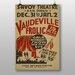 Big Box Art Vaudeville Frolic No.1 Vintage Advertisement