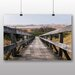 Big Box Art Wooden Foot Bridge Photographic Print Wrapped on Canvas