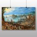 Big Box Art 'The Elder Great Fish Market' by Pieter Bruegel Art Print