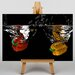 Big Box Art Red and Yellow Peppers Graphic Art Wrapped on Canvas