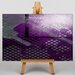 Big Box Art Purple Abstract Graphic Art on Canvas