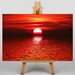 Big Box Art Red Sunset Photographic Print Wrapped on Canvas
