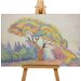 Big Box Art Colourful Tree by Paul Signac Art Print on Canvas