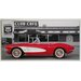ERGO-PAUL 1961 Chevrolet Corvette, Club Café, Route 66 Painting Print