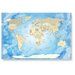 LanaKK Worldmap Frozen Photographic Print