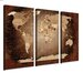 LanaKK World Map 3 Piece Graphic Art on Canvas