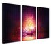 LanaKK Shining 3 Piece Graphic Art on Canvas Set