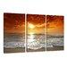 Urban Designs Beach Sea 3 Piece Photographic Print Wrapped on Canvas Set