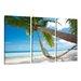 Urban Designs Palm Tree Hammock 3 Piece Photographic Print on Canvas Set