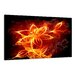 Urban Designs Fire Flower Graphic Art Wrapped on Canvas