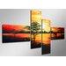 Urban Designs Africa 4 Piece Graphic Art on Canvas Set