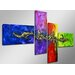 Urban Designs Style 4 Piece Graphic Art on Canvas Set