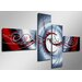 Urban Designs Curl 4 Piece Graphic Art Wrapped on Canvas Set