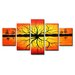 Urban Designs Abstract 5 Piece Graphic Art Wrapped on Canvas Set