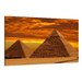 Urban Designs Pyramids Photographic Print Wrapped on Canvas