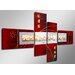 Urban Designs Hand-Painted 4 Piece Graphic Art Wrapped on Canvas Set