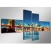 Urban Designs New York 4 Piece Photographic Print Wrapped on Canvas Set