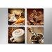 Urban Designs Coffee 4 Piece Photographic Print on Canvas Set