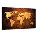 Urban Designs Worldmap Graphic Art Wrapped on Canvas