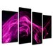 Urban Designs 4 Piece Graphic Art Wrapped on Canvas Set