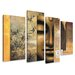 Urban Designs Buddha 4 Piece Graphic Art Wrapped on Canvas Set
